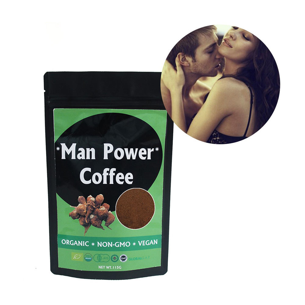 Arabica instant coffee with tongkat ali extract powder