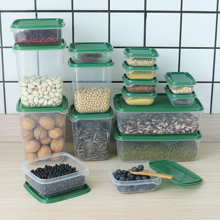 17 pcs small plastic food storage container boxes with lids wholesale