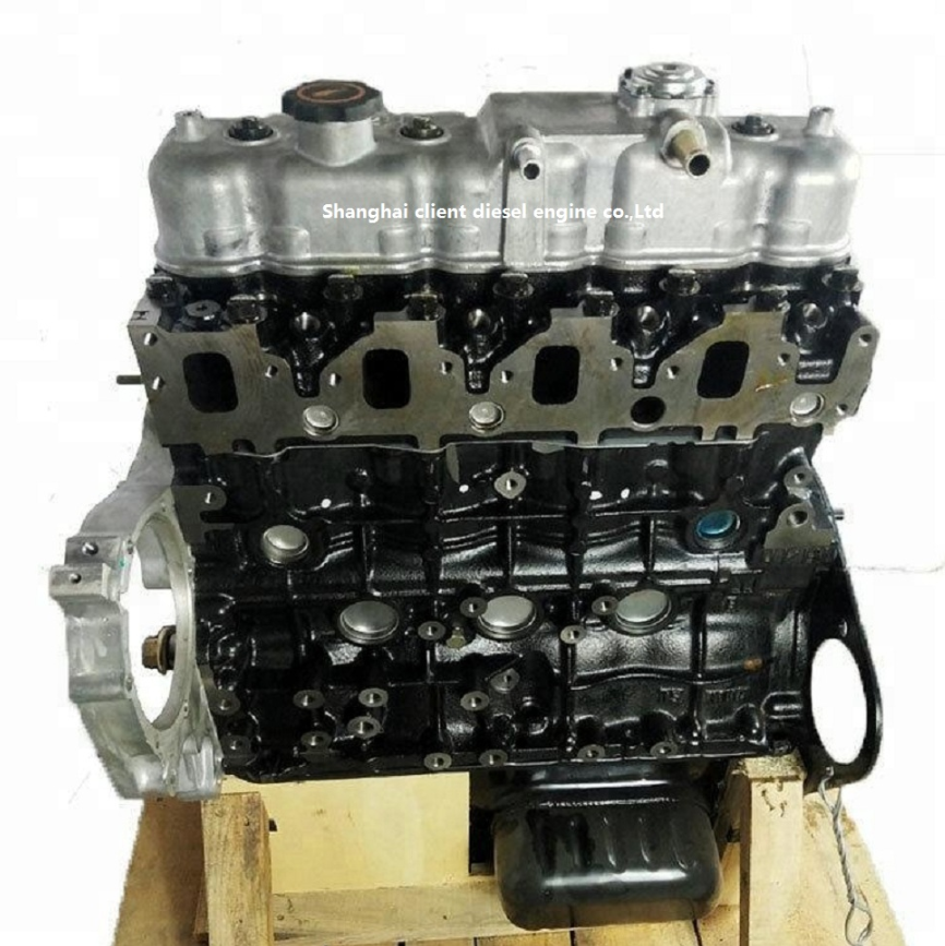 Hot sale 4JB1T engine long cylinder block for isuzu elf truck parts