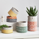 AAA210 Nordic style Cute abstract cement Decoration Flowerpots Coffee shop counter artificial plant potting Face flower pot