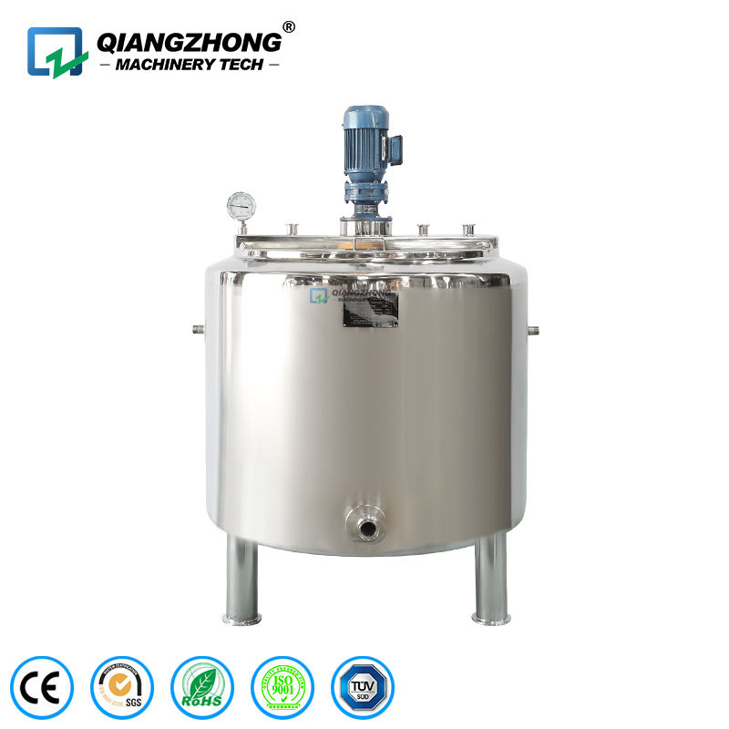 Chemical Cosmetic Liquid Soap Steam Jacketed Stainless Steel Mixing Tank