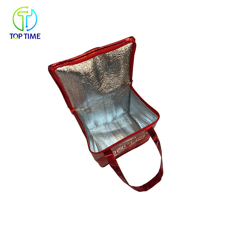 Lunch Lunch Cooler Bags Custom Imprint Portable Non Woven Large Insulated Tote Bag Thermal Lunch Cooler Bag