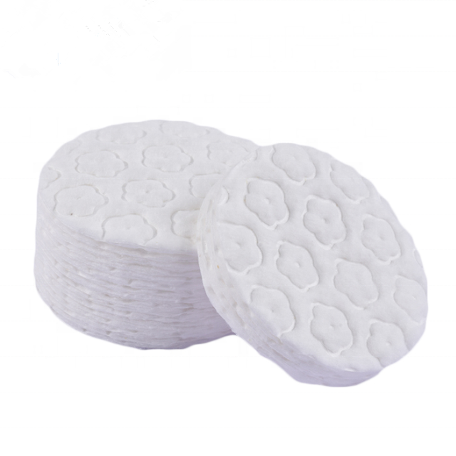 OEM Disposable Manufacturers Round Cosmetic Makeup Remover Absorbent Cotton Pads cosmetic