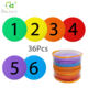 Markers Dots Number Colorful Sitting Spot Carpet Markers Hook And Loop Circle Dots