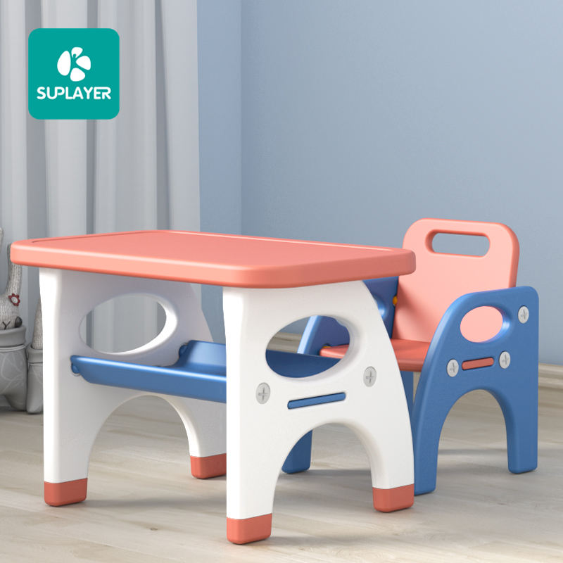 Baby foldable plastic activities ergonomic homework desk nordic children furniture study tables and chair set for kids bedroom