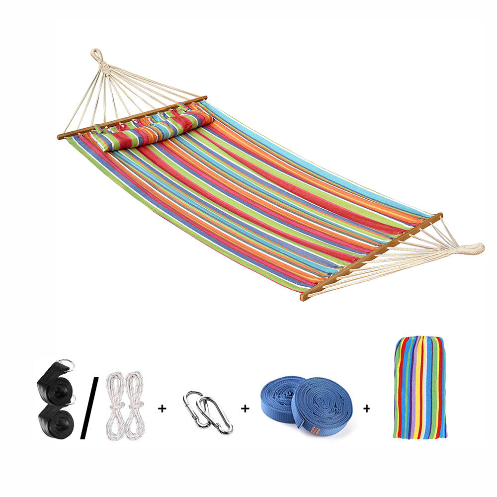 China Factory Supply Lightweight portable hanging Bed Hammock with Tanoak Wood