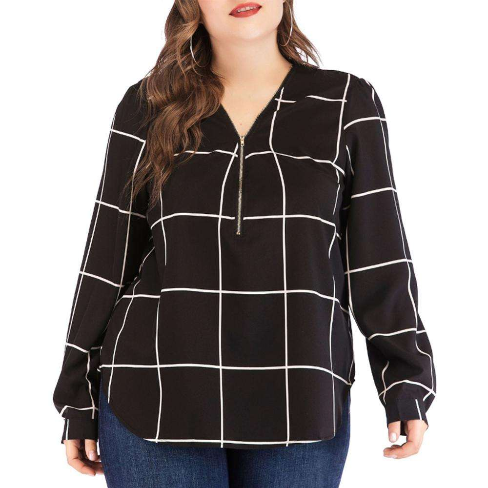 Latest girls designs stripe sexy casual plus size women blouse