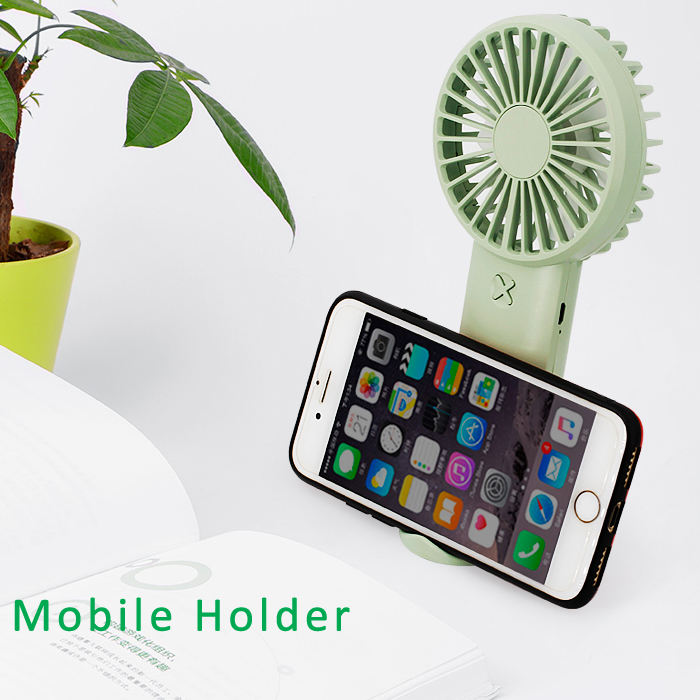 2020 Outdoor Wearable Carabiner Design Mobile Holder USB Rechargeable mini table fan