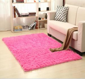Household modern bedroom shaggy soft rug sponge back carpet