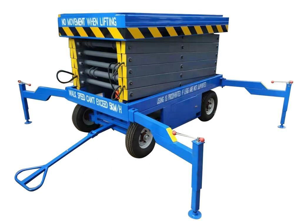 Small Platform Scissor Lift Small Aerial Mobile 1 Man Scissor Lift Self-driven Aerial Working Platforms Hydraulic Scissor Lifts