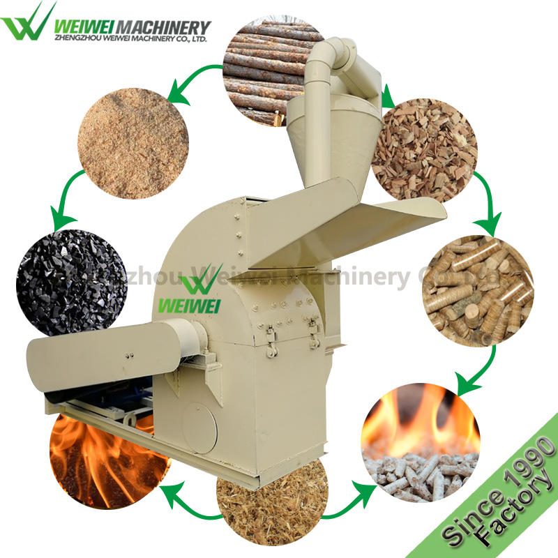 WEIWEI DMJ 500-3 Capacity 1.5t/h wood saw machine price wood crusher sawdust for pellet press machine