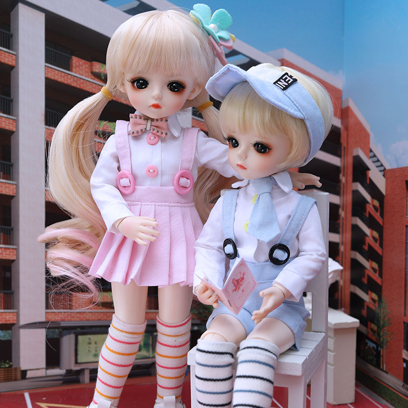 1//12 BJD DOLL Mini Baby Angel Ball Jointed Dolls NO Make up White Skin