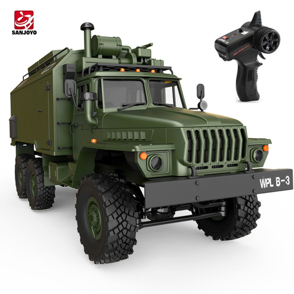 WPL B-36 2.4GHZ 1:16 Mini 2.4g 6wd 4ch Rc Military Car Command Vehicle Radio Control Truck Toys