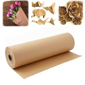 Packaging tissue paper gift wrapping paper roll kraft paper roll brown
