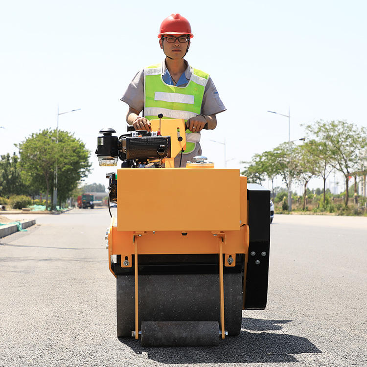 Electromagnetic Clutch Single Cylinder Drum Manual Style Homemade Light 300KG Mini Vibratory Road Roller Compactor