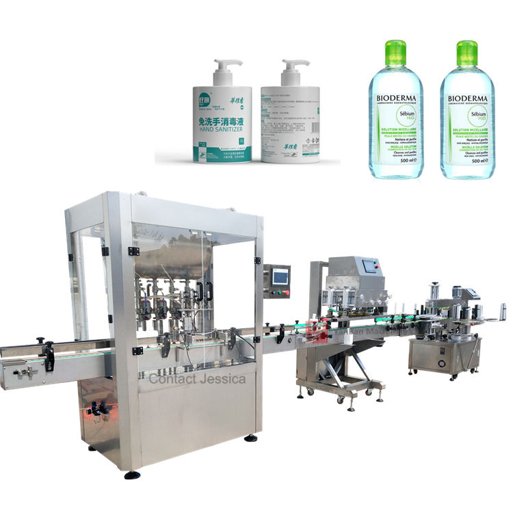 ce standard bottle hand sanitizer filling capping machine