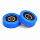 Custom size Durable plastic polyurethane coated bearing roller with ball bearing 6202-2RS
