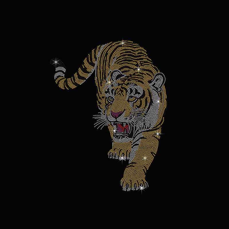 Cool tigre transfert strass conception