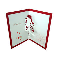 Custom stamping holiday greeting card pop up  greeting card  Blessing gift card