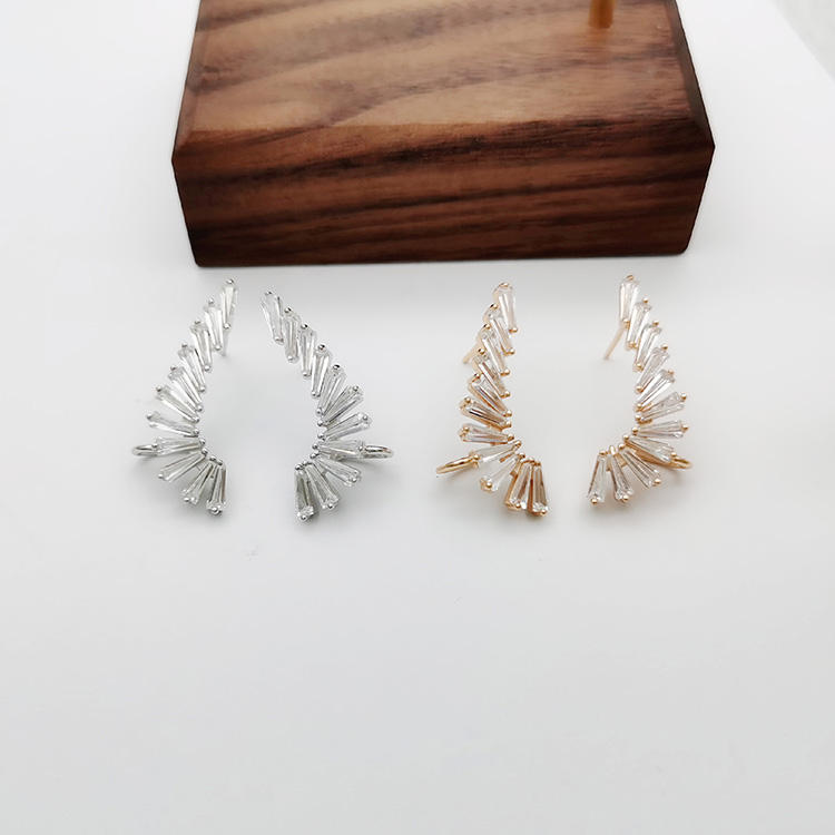 Groothandel 925 Sterling Silver Angel Wings Ear Drop Nikkel Gratis Meisje Oorbel Studs