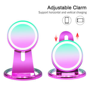 10W fast charge Iridescent wireless charger 2 way wireless charger