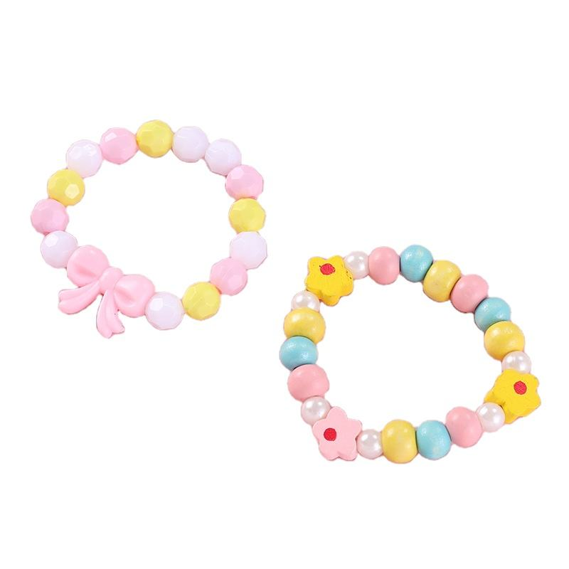 China hot sale beautiful Acrylic and wooden beads kids custom bracelet