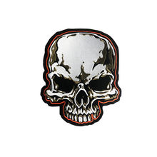 Big Size Skull Motorcycle Biker Embroidered Patches Iron On Sew Patches For Clothing