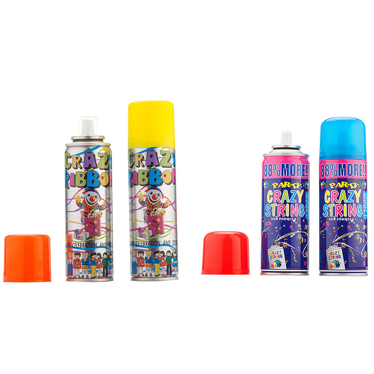 150ml 250ml wedding aerosol party orange purple pink yellow green blue wholesale crazy string spray