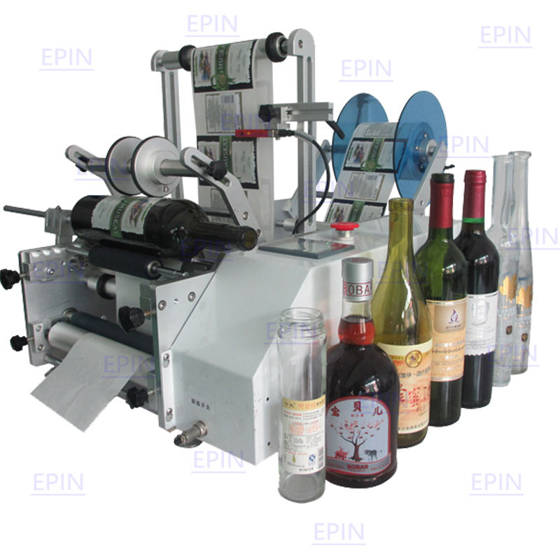 High quality wholesale cheap semi-automatic round bottle labeling machine suitable for all kinds of cylindrical objects