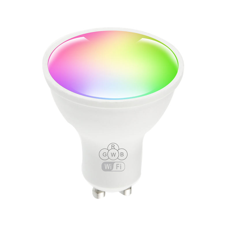 <span class=keywords><strong>GU10</strong></span> Wifi Slimme Lamp Led Spotlight Compatibel Met Alexa En Google Home Led Rgbw 2700K Dimbare
