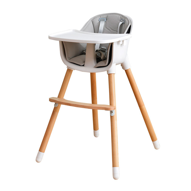 European standard Wholesale Multi-function Wooden Baby High Chair For Baby Feeding