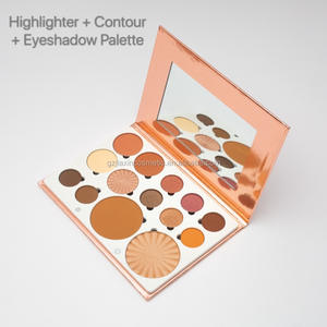 Cheek Face Contour Smooth Pressed Powder Custom your own Brand Brightening Highlighter Makeup Palette Private Label Eyeshadow