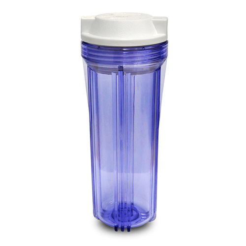 """CLEAR WATER FILTER HOUSING HAS 3//4/"""" PORTS NEW 2 10/"""" ID  LONG CLEAR CUP"""