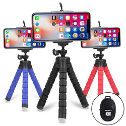 Cell Phone Tripod,Octopus Flexible Sponge Self Stick Gopro C