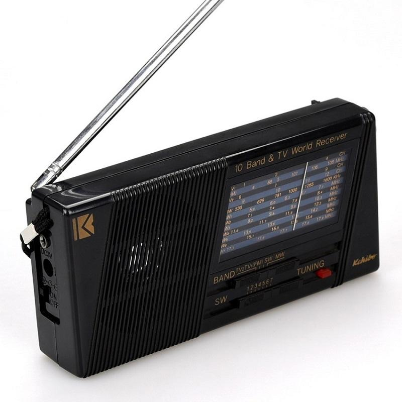 Popular in India cheap KK-8108T FM TV MW SW 10 band portable radio