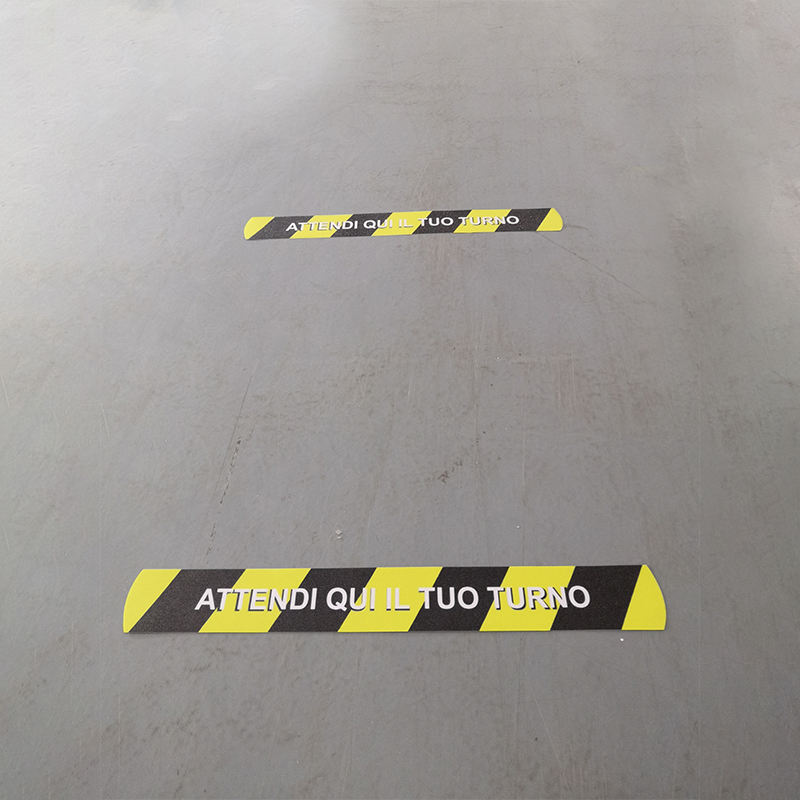 Keep Your Distance Marker Floor Sticker Social Distancing Decal for Groceries Mall Banks Queues