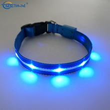 New Pet Products Reflective USB Rechargeable Led Flashing Dog Collar
