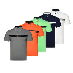 top quality polyester Moisture Wicking Men Golf Polo Shirts Dir Fit Sports Polo T Shirt in China factory