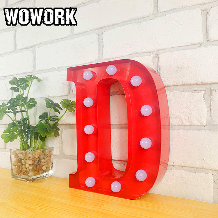 WOWORK hanging letter alphabet light for bedroom decoration