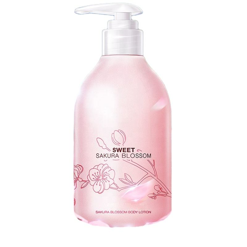 Japanese cherry blossom perfumed Moisturizing Whitening Refreshing body cream/body lotion