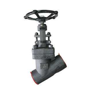 COVNA 2 inch 600LB Hand Wheel Operated SW Ends Y Type Forged Steel Globe Valve