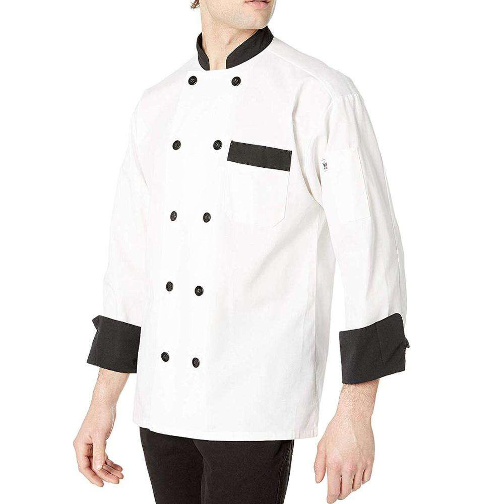 Witte Knoppen Chef <span class=keywords><strong>Jas</strong></span> Voor Restaurants/Zwarte Knoppen Chef <span class=keywords><strong>Jas</strong></span>/<span class=keywords><strong>Chef-kok</strong></span> <span class=keywords><strong>Jas</strong></span>