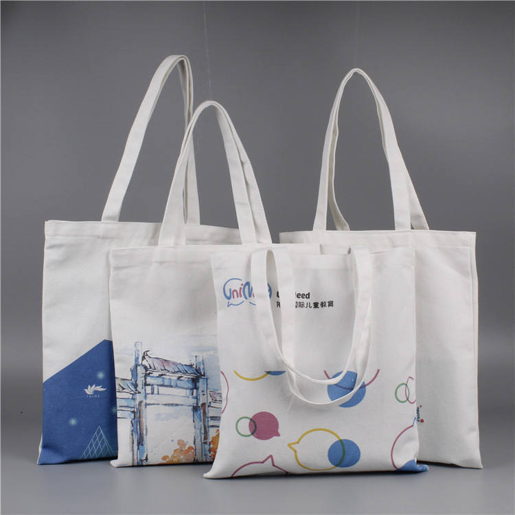 Wholesale canvas custom printed tote canvas bag , can print your logo and photo design
