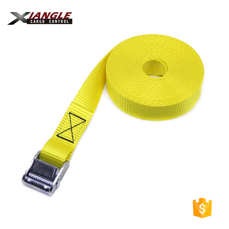 1 inch 350kgs polyester motorcycle cargo lashing belt endless am buckle tie down straps for transportation