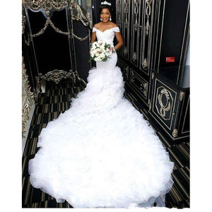African Wedding Dresses Bridal Gown 2020 New Style Mermaid Bridal Dresses Lace Wedding Gown