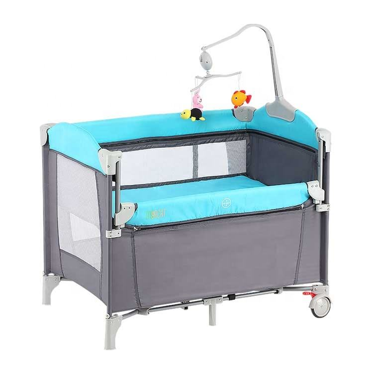 Colorful baby crib foldable baby playard luxury baby playpen for european standard