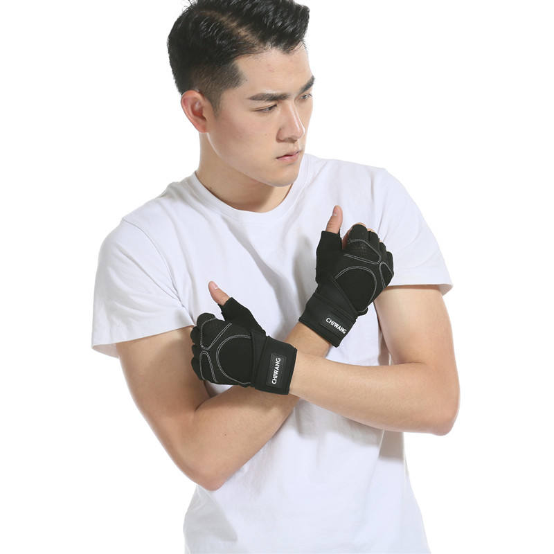 Adjustable weight lifting non-slip gloves half finger fitness gym gloves gym gloves for man fitness