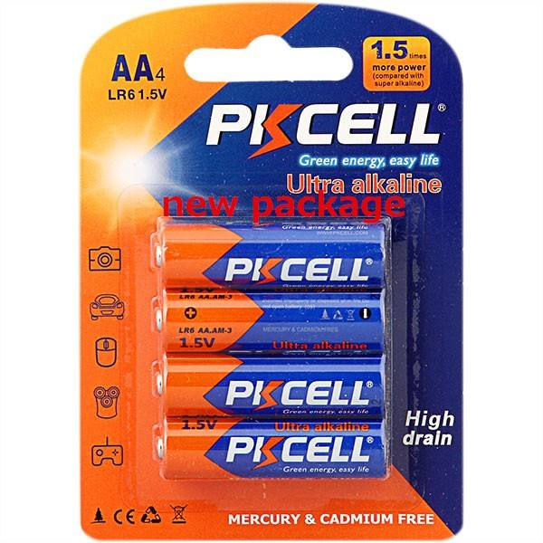 PKCELL Brand AM3 battery LR6 alkaline battery size AA Dry Battery Pilas AA