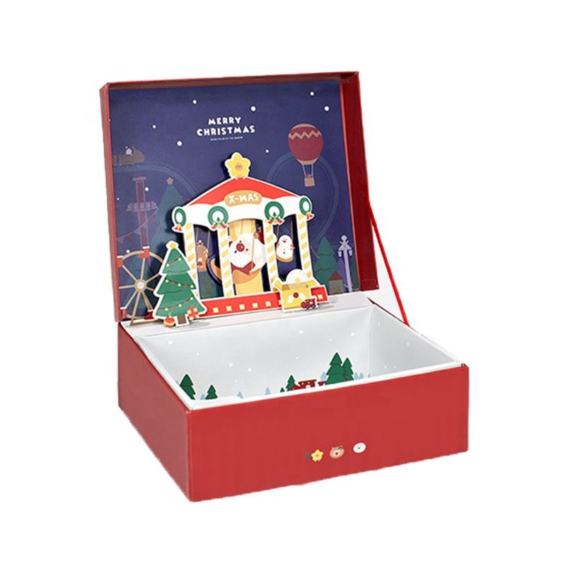 Pop Up Gift Box for Christmas Present Decorative Christmas Gift Boxes Wholesale Boxes Cheap Wooden Phone Case Packaging Bead