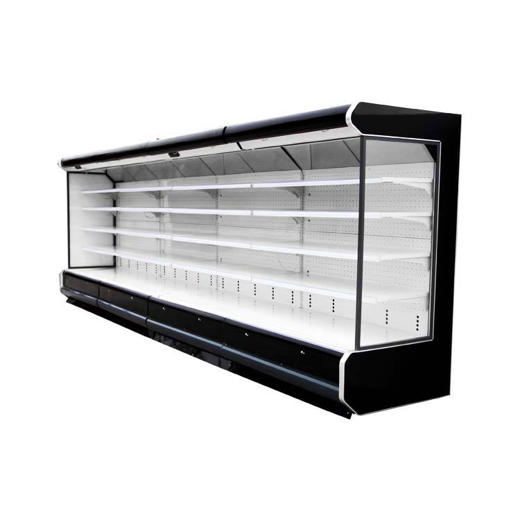open refrigerated display open air chiller supermarket cooler
